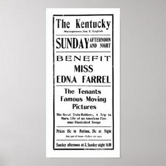 Große Zug-Raub-Reise zu Vintager Anzeige 1904 der  Poster