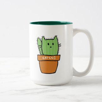 Große Zweiton Kaktus-Tasse - Kürbis Zweifarbige Tasse