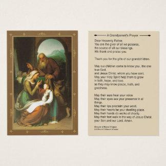Großeltern-Gebet Anne Joachim Mary Visitenkarte