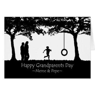 Großeltern-Tag für Meme und Pepe, Schwingen Grußkarte
