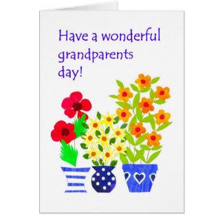Großeltern-Tageskarte - Blumen-Power Karte