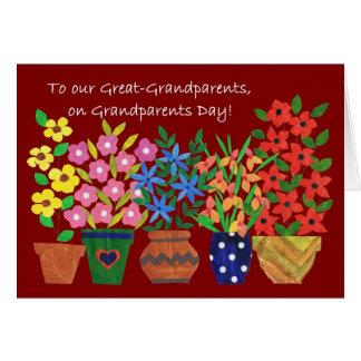 Großeltern-Tageskarte für Groß-Großeltern Karte
