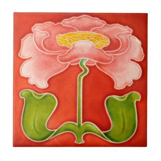 Größen der Kunst Nouveau Vintage Keramikfliese