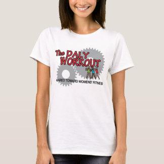 Größen-MED der Frau. Gesundes Lebensjahrworkout-T T-Shirt