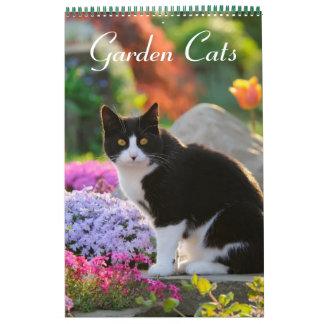 Größenmedium der Garten-Katzen 2017 Wandkalender