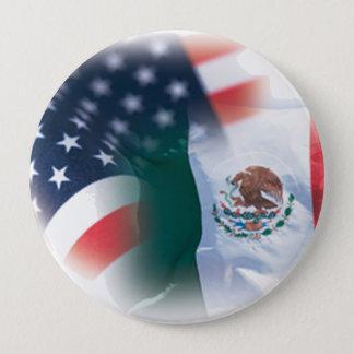 Großer 4 Zoll-Knopf Mexikaner-Amerikas Runder Button 10,2 Cm