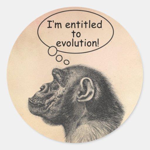 Großer Affen-Evolutions-Bezeichnung Sticker