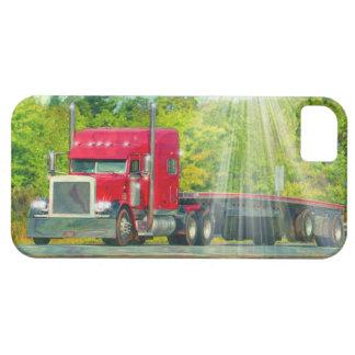 Großer Anlage-roter LKW-schweres Transportfahrzeug Barely There iPhone 5 Hülle