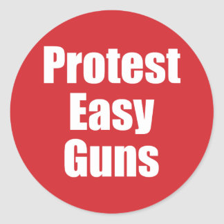 Großer Aufkleber - Protest-einfache Gewehre