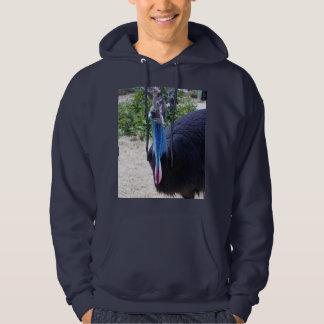 Großer blauer australischer Cassowary-Vogel, Hoodie