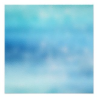 Großer blauer Himmel-Ozean abstraktes Poster