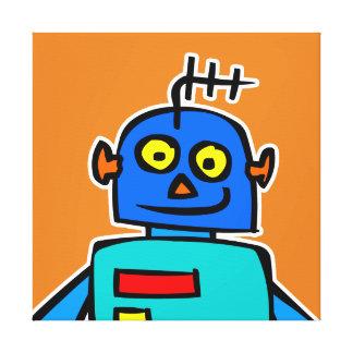 Großer blauer Roboter-Leinwanddruck Leinwanddruck