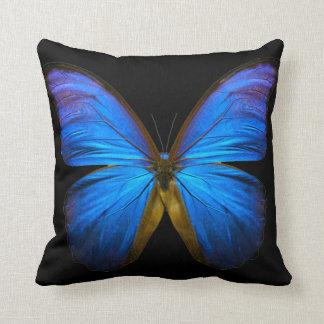 Großer blauer Schmetterling Kissen