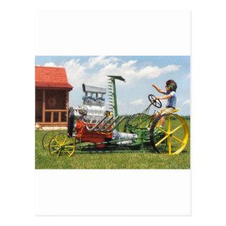 Großer Block-Rasenmäher Postkarte