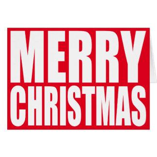 Großer Block-weiße frohe Weihnachten Karte