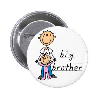Großer Bruder mit Baby-Schwester-T-Shirts und Gesc Runder Button 5,7 Cm