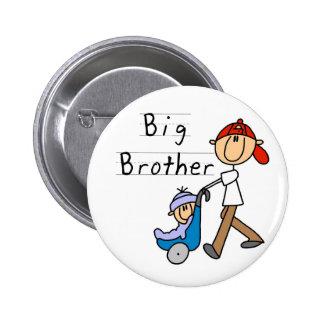 Großer Bruder mit kleinem Bruder Runder Button 5,7 Cm