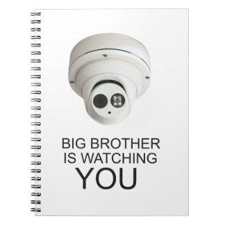 Großer Bruder passt Sie auf Spiral Notizblock