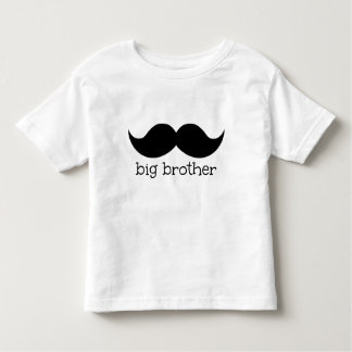 Großer Bruder-Shirt, mit dem Schnurrbart Kleinkind T-shirt
