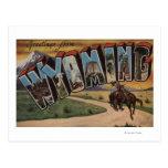 Großer Buchstabe ScenesWyoming Wyomings (Cowboy) Postkarten