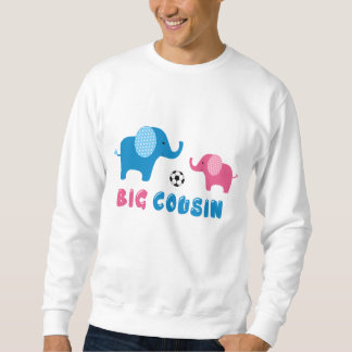 Großer Cousin-Elefantfußball Sweatshirt