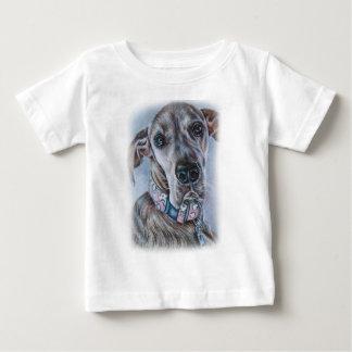 Großer Däne-Hund, der Entwurf zeichnet Baby T-shirt