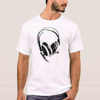 großer DJ-Kopfhörermusik-T - Shirt