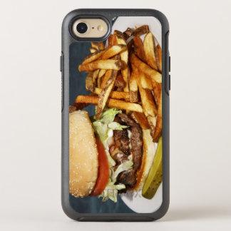 großer doppelter halber Pfundburger brät und OtterBox Symmetry iPhone 8/7 Hülle