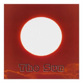 Großer entfernter Sun Poster