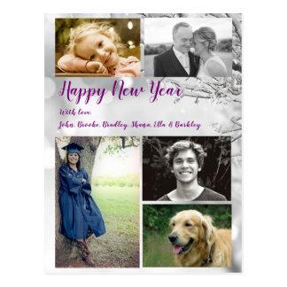 Großer Familien-glückliches neues Postkarte