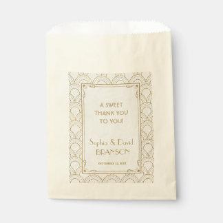 Großer Gatsby Vintager Kunst-Deko DANKEN IHNEN Geschenktütchen