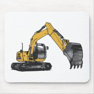 Großer gelber Bagger Mauspad