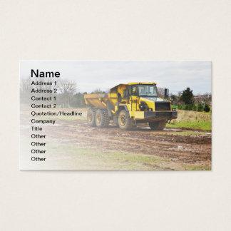 großer gelber Kipper Visitenkarte