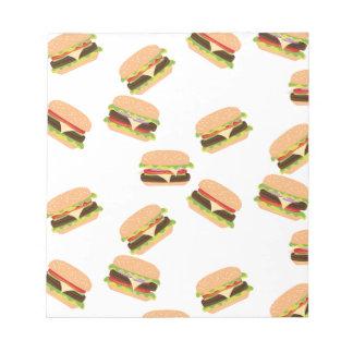 Großer geschmackvoller Burger Notizblock