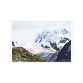 Großer Gletscher in den Schweizer Alpen Leinwanddruck