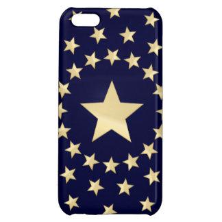 Großer goldener Stern eingekreist durch kleinere iPhone 5C Hülle