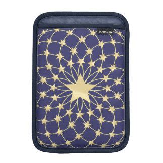 Großer goldener Stern eingekreist durch kleinere Sleeve Für iPad Mini