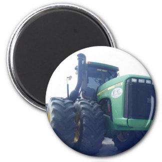 Großer grüner Traktor-Magnet Runder Magnet 5,7 Cm