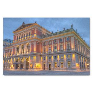 Großer Hall der Dackel Musikverein, Wien, Seidenpapier