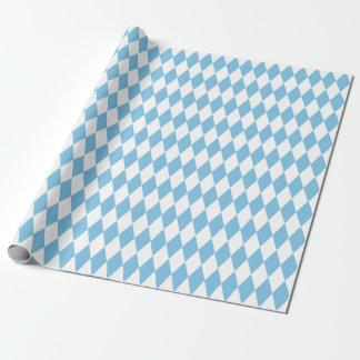 Großer hellblauer und weißer Harlekin Geschenkpapier