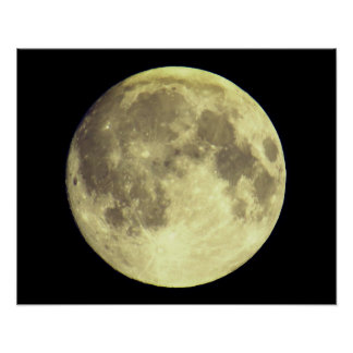 Großer heller Mond Poster