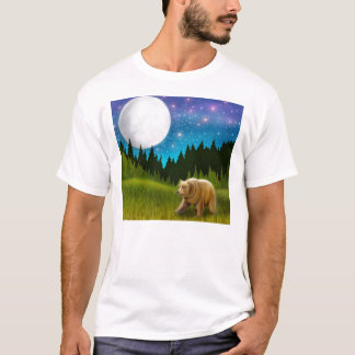 Großer Himmelgrizzly-T - Shirt