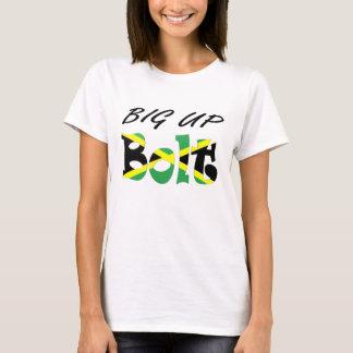 Großer hoher Bolzen-jamaikanischer Flaggen-T - T-Shirt