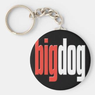 Großer Hund. Platzhirsch. Großer Käse. Chef. Mann  Standard Runder Schlüsselanhänger