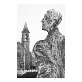 Großer Hunger von Irland-Statuen in Dublin Briefpapier