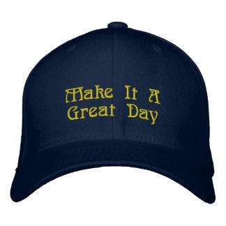 Großer Hut, fantastische Mitteilung Bestickte Kappe