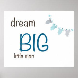 Großer Jungen-Traumdruck Poster