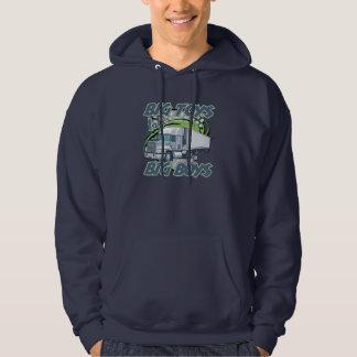 Großer Jungetauschenhoodie-Sweatshirt für Arbeiter Hoodie