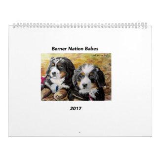 Großer Kalender der Berner Nations-Babys 2017
