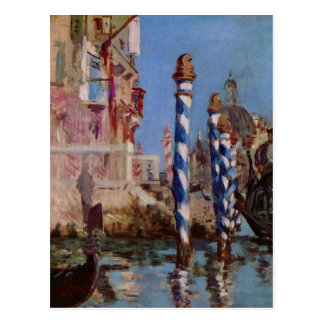 Großer Kanal in Venedig - Edouard Manet Postkarte